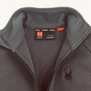 Spyder Core Mens Small Sweater Half Zip Black